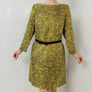 tibi New York abstract striped silk dress